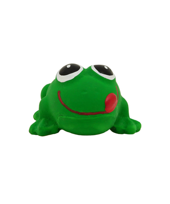 green rubber frog toy for dogs 2.5""