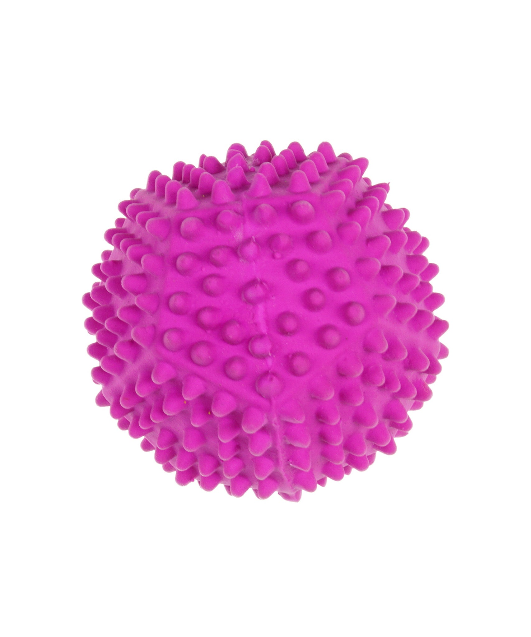 spiky purple pentagon ball toy for dogs 3.5