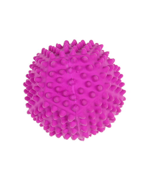 spiky purple pentagon ball toy for dogs 3.5""