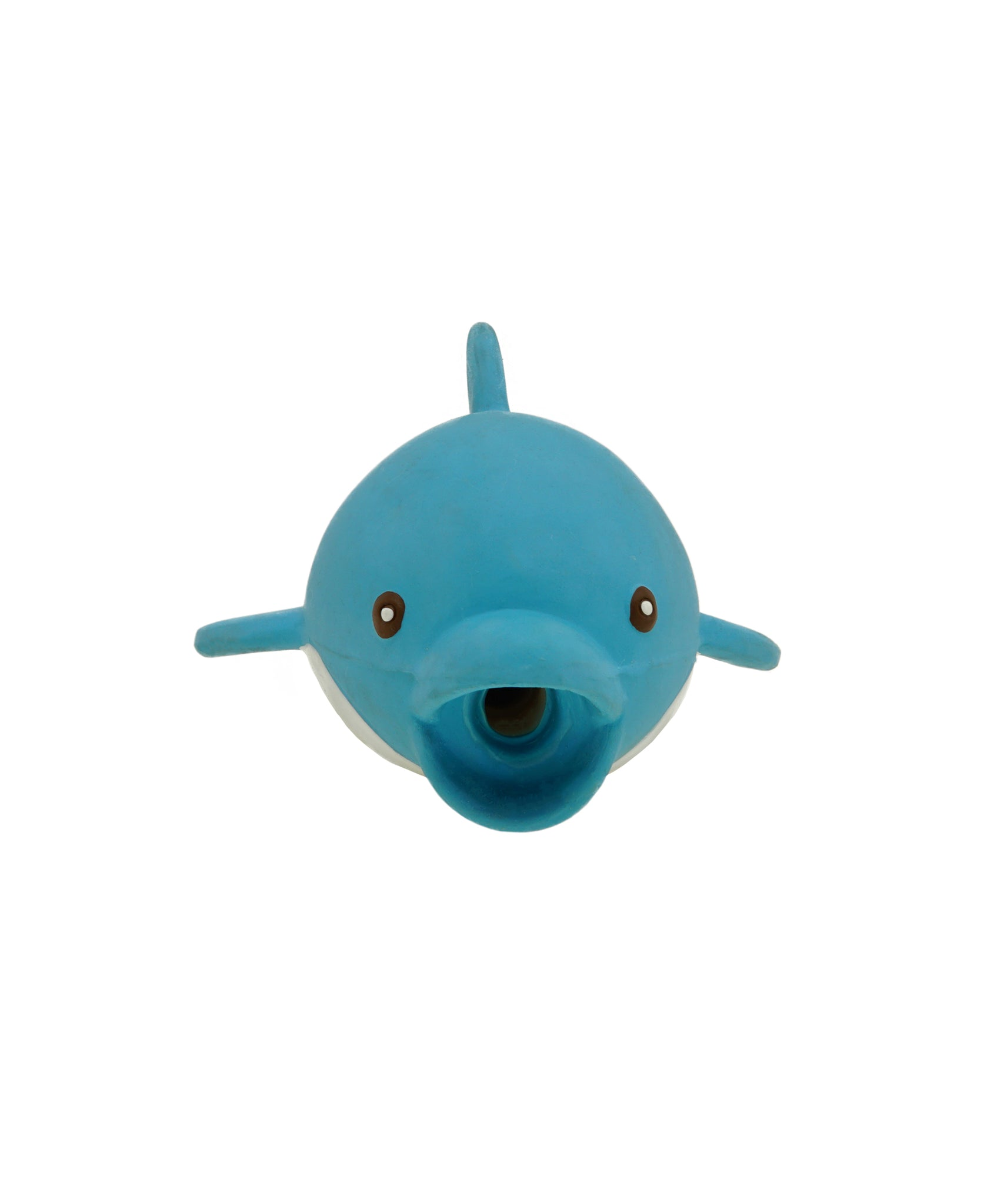 blue rubber dolphin toy for dogs