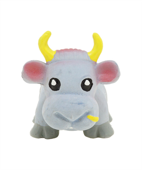 grey rubber cow with star toy for dogs 3""