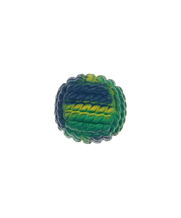 green yellow rubber ball toy for dogs 3""