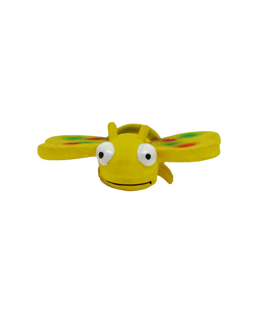 yellow rubber bee toy for dogs 3""