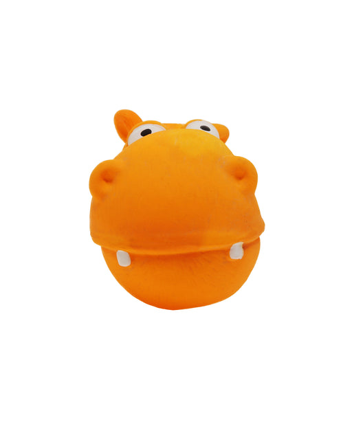 big rubber head hippo toy for dogs 6.5""