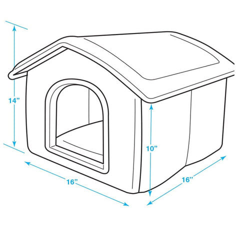 """Home Sweet Home"" Portable Pet House Plush Foam Bed for Cats & Dogs"