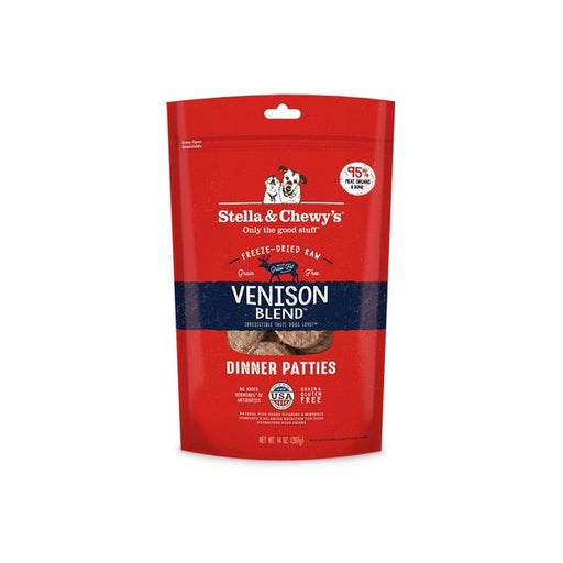 Stella  Chewy's Venison Blend Dinner Patties GrainFree FreezeDried Dog Food