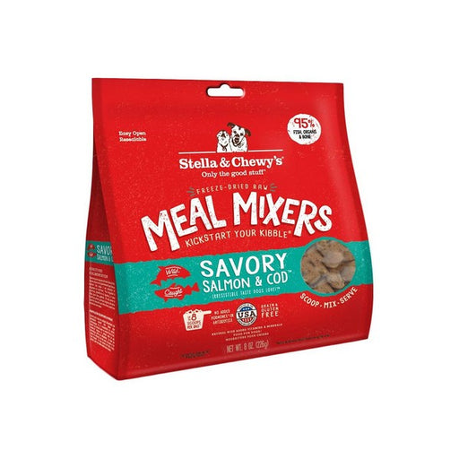 Stella  Chewy's Savory Salmon  Cod Meal Mixers GrainFree FreezeDried Dog Food