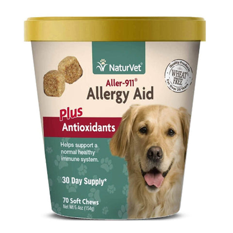 NaturVet Allergy Aid Plus Antioxdants 70 Soft Chews
