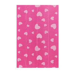 Best Pet Supplies 150 Waste Bags 10 Refill Rolls  New and Improved Fresh Scented, Fits all standard dispensers. Pink with Pink Hearts Pattern.