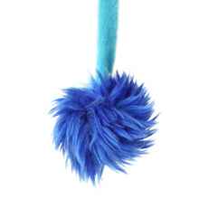 Interactive Crazy Cat Wand Stick toy Blue/Lilac with Blue Fuzzy Faux Fur Ball Fun String Cat toy for Cats and Kittens Detailed Blue Ball