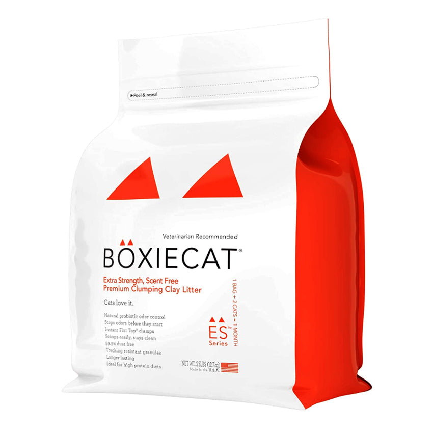Boxie Cat Orange Extra Strength Scent Free Premium Clumping Clay Litter For cats and Kittens Veterinarian Recommended