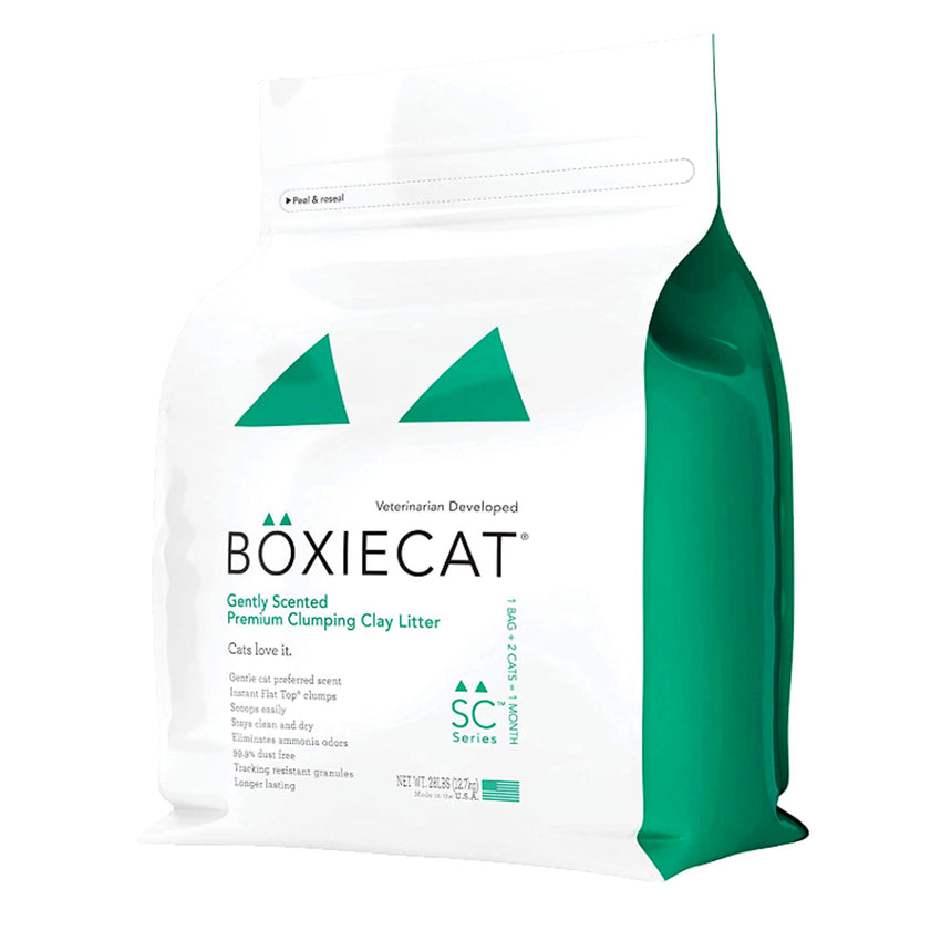 Boxie Cat Gently Scented Premium Clumping Clay Litter Veterinarian Developed Lasts for 1 month