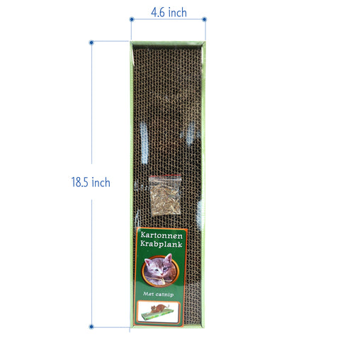 Cardboard Scratching Board Cat Scratcher With bag of catnip included Perfect post for destructive cats and kittens size and measurements 4.6 W inch x 18.5 L Inch