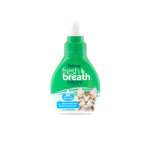 Tropiclean Fresh Breath Water Additive Drops for Cats 2.2 fl. oz