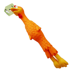 Long Rubber Chicken Toy 14''