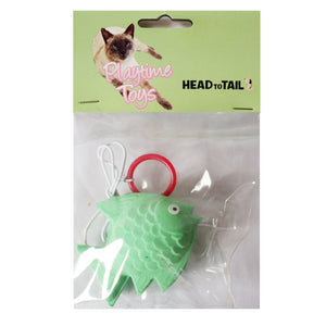 Soft Sponge Fish with Elastic String Cat Toy