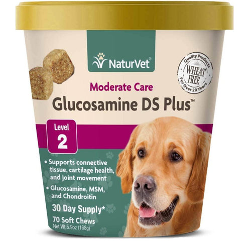 NaturVet Glucosamine DS Plus Moderate Care Level 2 - Soft Chews