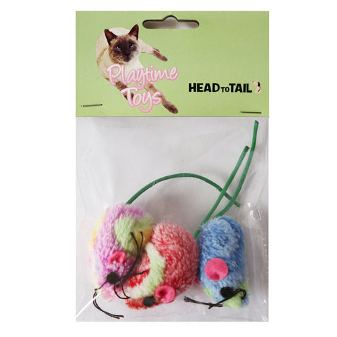 One Pack Of 3 Piece Multi-Colored Mice toys Interactive Toys for cats and Kittens