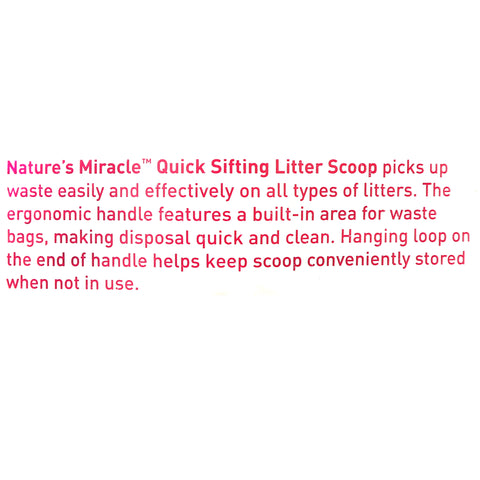 Nature's Miracle Quick Sifting Litter Scoop