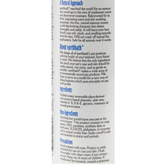 Back of earthbath deodorizing spray includes sections a natural approach, about earthbath, ingredients, non-ingredients, precautions