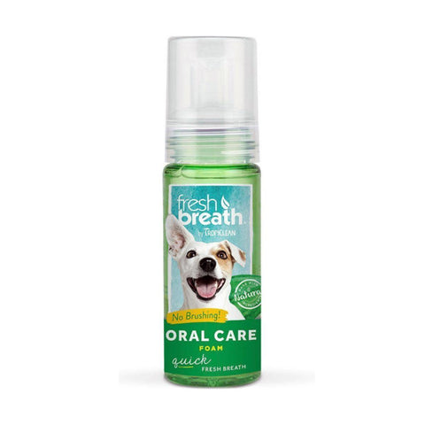 Tropiclean Fresh Breath Oral Care Mint Foam 4.5 fl. oz