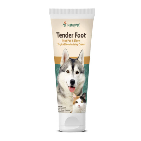 NaturVet Tender Foot Pad & Elbow Tropical Moisturizing 5oz Cream