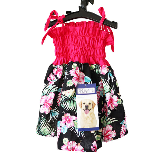 Black & Pink Hawaiian Breeze Sundress For Dogs