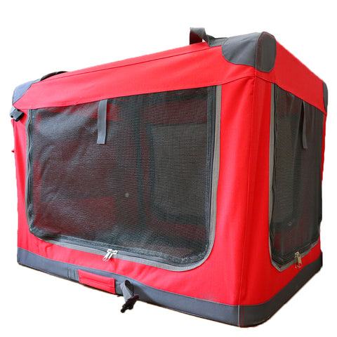 Guardian Gear Nylon Pioneer Soft Dog Crate, Red Large