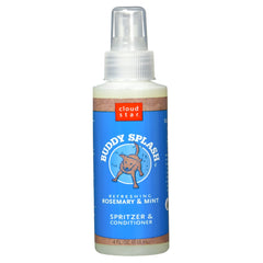 Buddy Splash Rosemary & Mint Deliciously Scented Refreshing Spritzer and Conditioner 4 Fl oz Dog Spray