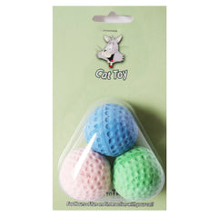 Squish-able Soft Sponge Golf Ball Toy For Cats