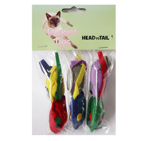 One pack 6 piece colorful mouse toy for cats and kittens, Interactive cat toy, cat mouse toy with attracting colors for cats and kittens
