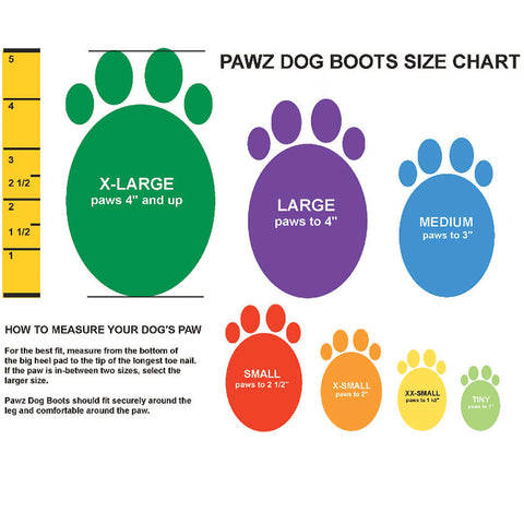 PAWZ Rubber Protective Dog Boots - XS