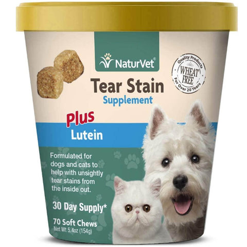 NaturVet Tear Stain Supplement Plus Lutein 70 Soft Chews