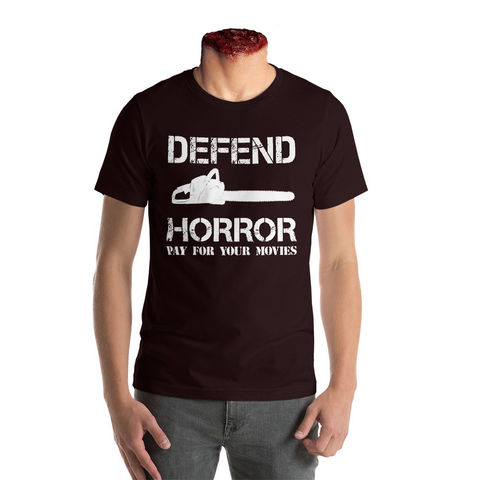 "Defend Horror ""Classic Chainsaw"" T-Shirt - Black"