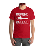 "Defend Horror ""Classic Chainsaw"" T Shirt - Red"