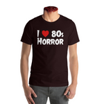 """I Heart 80s Horror"" T shirt - Black"