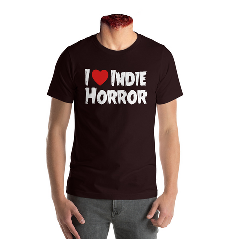 """I Heart Indie Horror"" t shirt - Black"