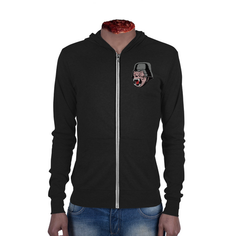 "Defend Horror ""Nightmare Demon"" Unisex zip hoodie - black"