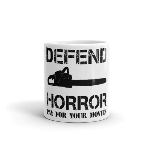 "Defend Horror ""Classic Chainsaw"" Coffee Mug"