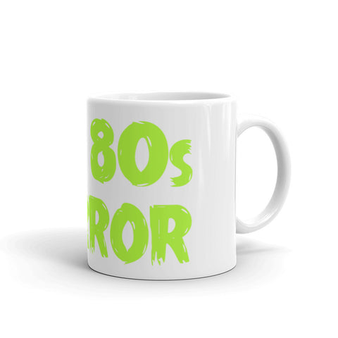 """I Heart 80s Horror"" coffee mug"