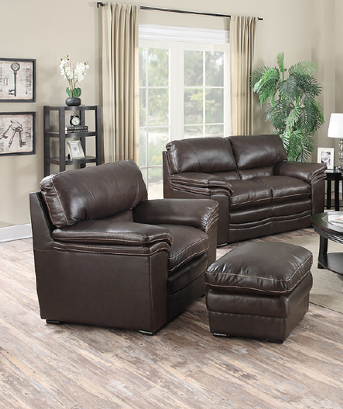 Leather Italia 1406 Loveseat & Chair
