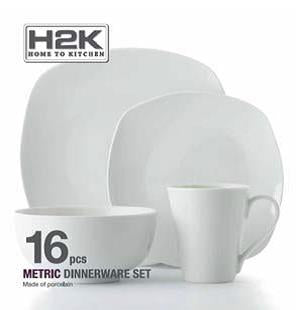 H2K Dinnerware Set - 16 pieces HK01695