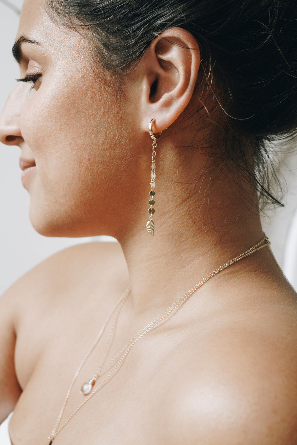 Free Spirit Hoop Earrings - Gold