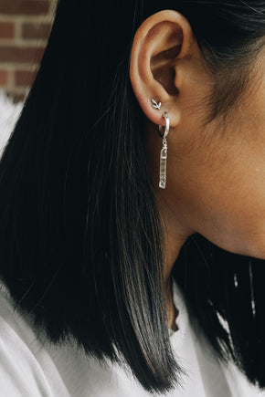 Crystal Point Hoop Earrings - Gold or Silver