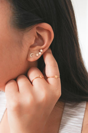 Milky Way Climber Earrings - Gold or Silver
