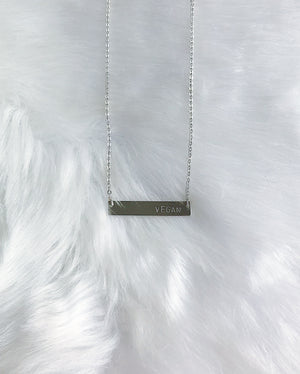 Bar Message Necklace - Silver