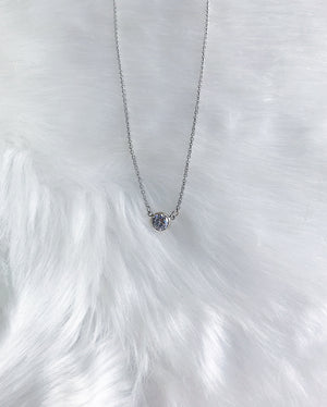 Full Moon Necklace - Silver