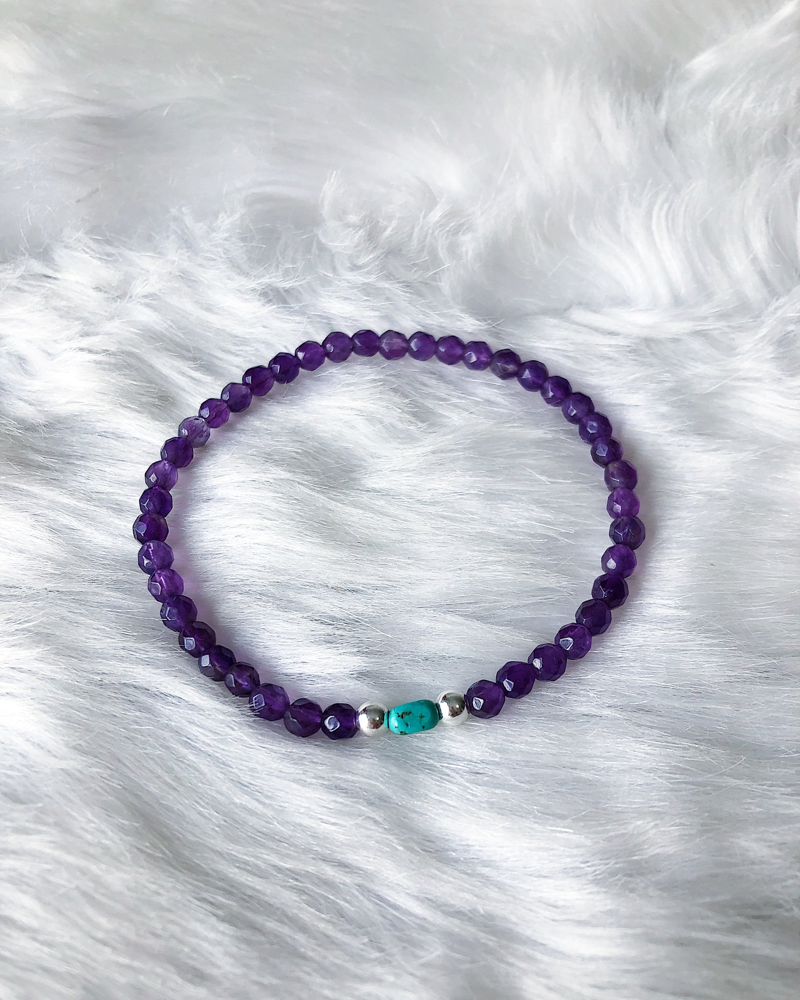 Amethyst & Turquoise - Silver