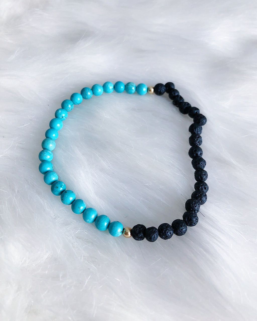 Turquoise Diffuser Bracelet - Gold