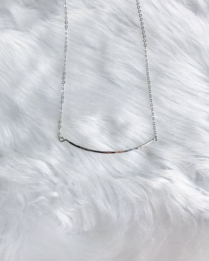 Simple Bar Necklace - Gold or Silver
